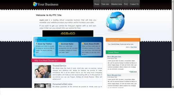 Product picture un-Tested = PaidToKlik Script v.1 -cool theme inside-